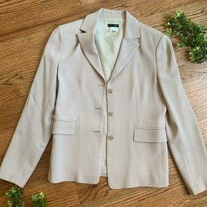 J. Crew | Blazer Natural Oatmeal Tan 100% wool
